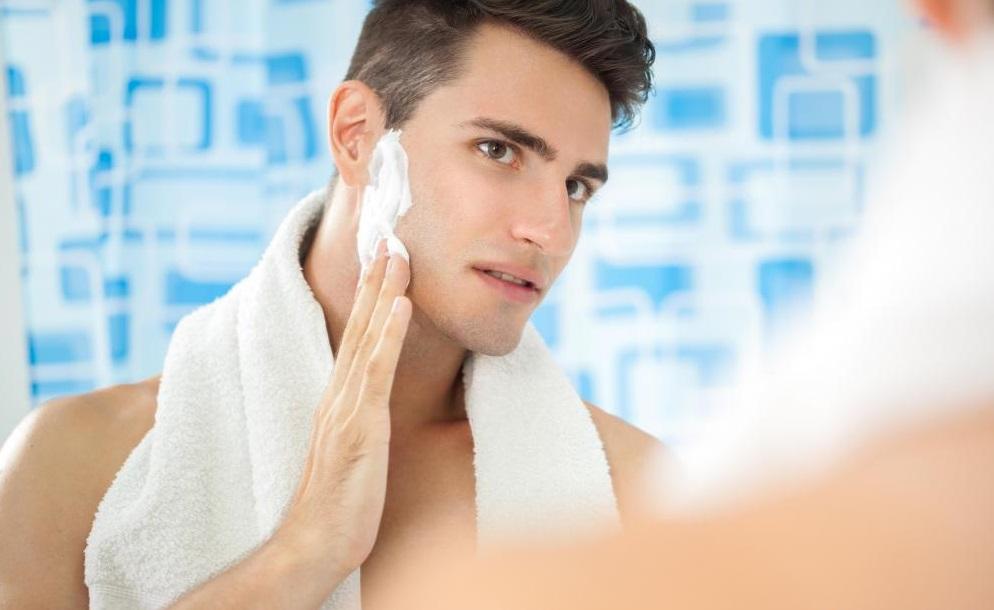 man-shaving-cheek